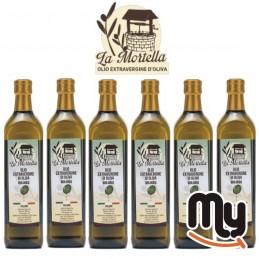 LA MORTELLA - Olio extravergine di oliva biologico 6 Bottiglia da 0.75 litri