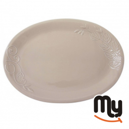 WALD - Dove Gray Oval Serving Plate