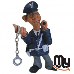 Policeman with handcuffs -...