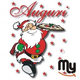 VETROFANITALIA - Chsms PZ Sticker with Christmas theme for shop window