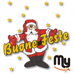 VETROFANITALIA - Chsms 50 Sticker with Christmas theme for shop window