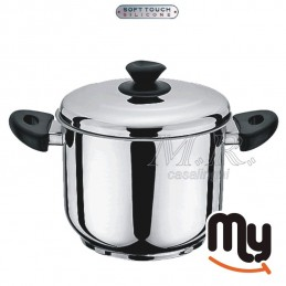 POT WITH LID STAINLESS STEEL INDUCTION HEALTH LINE