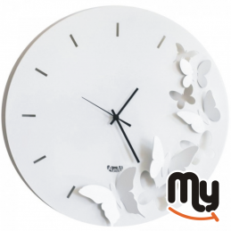 "ARTI & MESTIERI - ""Butterfly Spring"" Wall Clock"