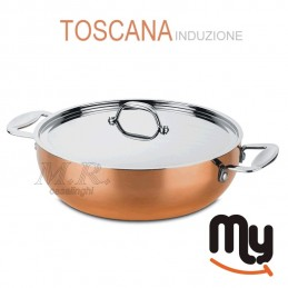 Pan with triple trimetal...