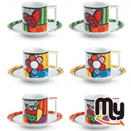 EGAN - Set 6 Coffee Cups Britto 90 Ml