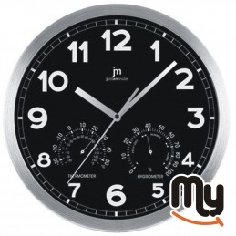 Black wall clock with...