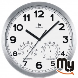 White wall clock with...