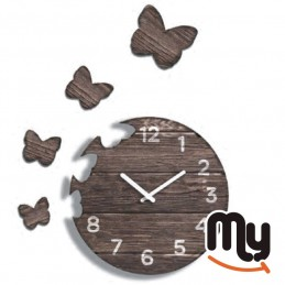 Wall Clock - Butterfly with...