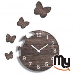 Стенен часовник - пеперуда...