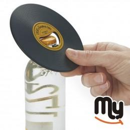 Vinyl disc bottle opener in...