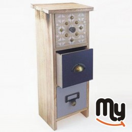 Mixed 3-drawer wooden mini...