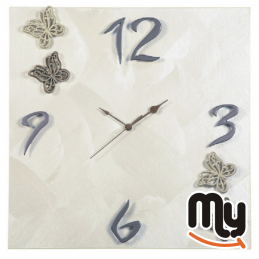 BRINDICCI - Стенен часовник с пеперуди Perla Spatolato