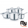 BARAZZONI - Cookware Set - Chef Line 9 pieces