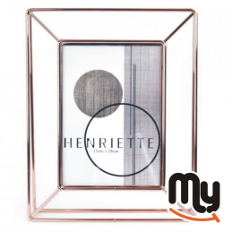 HENRIETTE -  Portafoto Sinfonie in metallo dorato