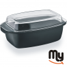 BARAZZONI - Oval casserole with glass lid