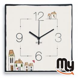 EGAN - Orologio da Parate - Le Casette quadrato